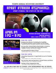 Sport Studies Symposium 2015