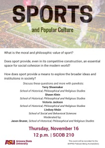 Sports and Popular Culture Flyer